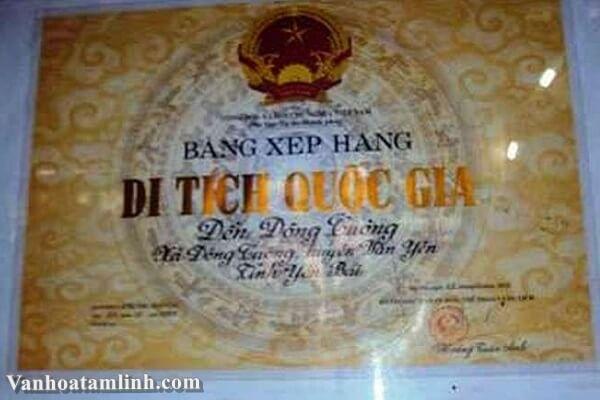 Di tích Đền Đông Cuông, huyện Văn Yên, tỉnh Yên Bái-1