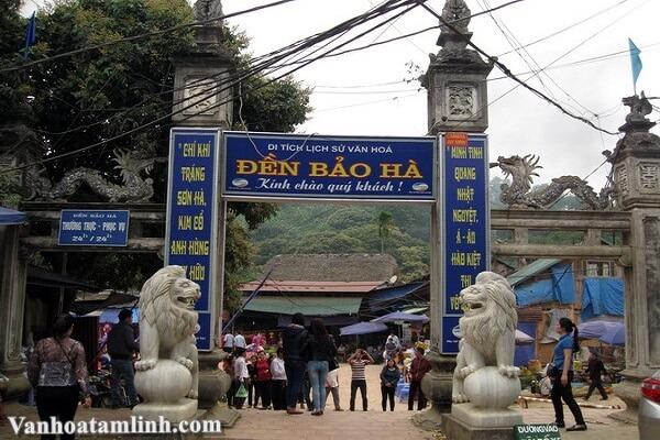 Đền Bảo Hà thờ Quan Hoàng Bảy ở Lào Cài