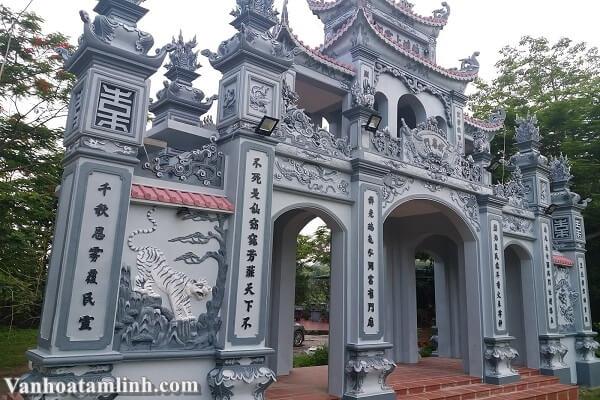 Tam Quan đền Bồng Lai Ninh Bình